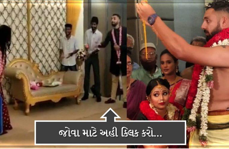 ઈન્ડિયન  ક્રિક્રેટર વરુણ ચક્રવતીએ ગર્લફ્રેન્ડ સાથે કર્યા લગ્ન, સ્ટેજ પર પત્ની સાથે રમ્યો ક્રિક્રેટ, જુઓ તેનો વિડિઓ…